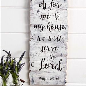 Farmhouse Scripture Wood Wall Art